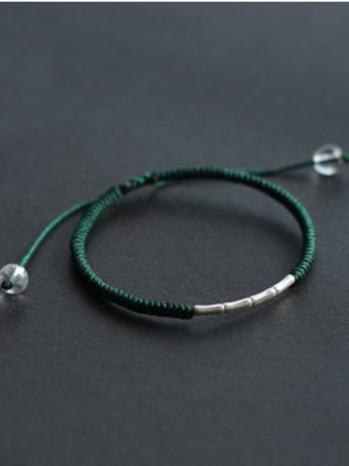 green 925 Sterling Silver Bracelet