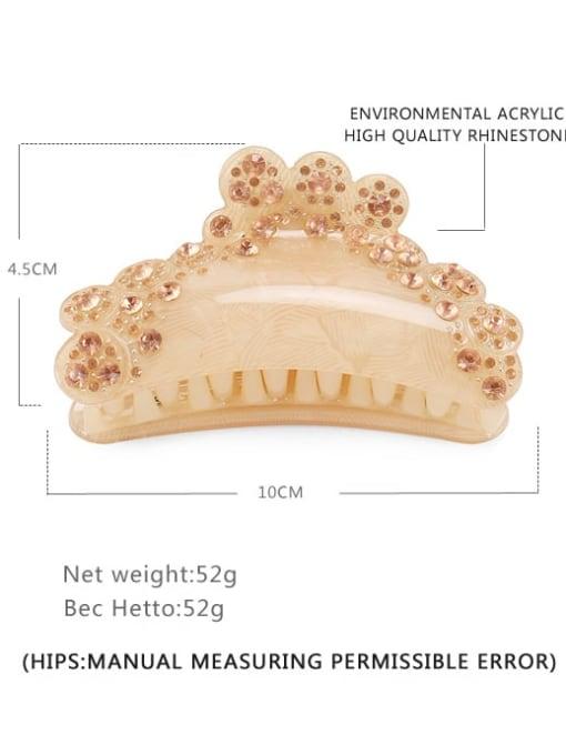 BUENA Acrylic Minimalist Irregular Alloy Rhinestone Multi Color Jaw Hair Claw 2