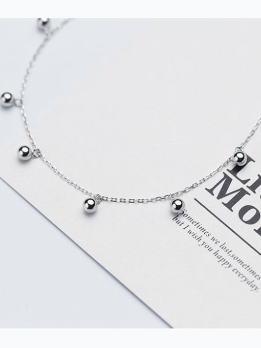 Rosh 925 Sterling Silver Silver Minimalist Choker Necklace