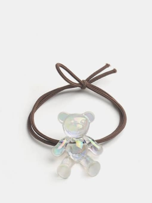 Colorful white bear brown rope Cute Colorful White Bear Hair Rope