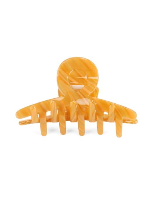 orange Cellulose Acetate Minimalist Irregular Multi Color Jaw Hair Claw