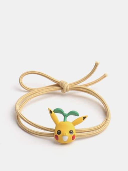 Long grass Pikachu Alloy Enamel Cute Long grass Cartoon Bear Multi Color Hair Rope