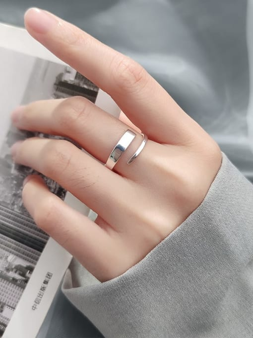 Rosh 925 Sterling Silver Silver Round Trend Stackable Ring