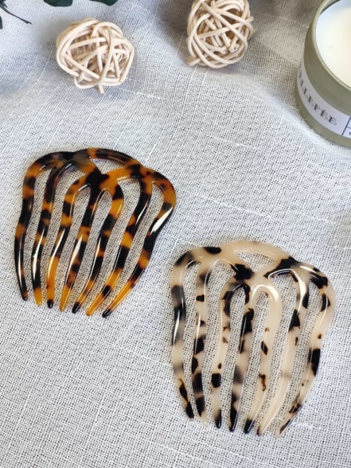 BUENA Cellulose Acetate Minimalist Geometric Multi Color Hair Comb