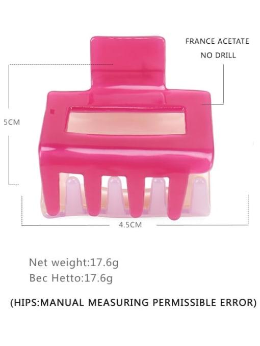 BUENA Cellulose Acetate Minimalist Geometric Multi Color Jaw Hair Claw 3