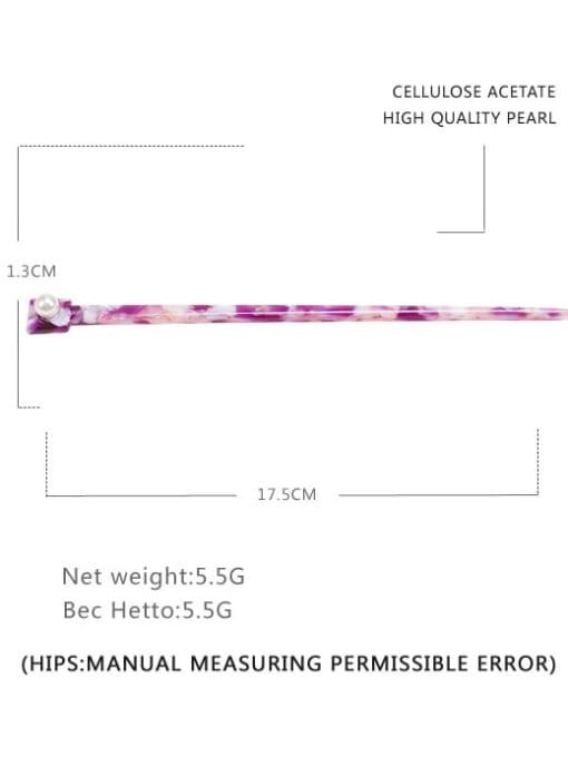 BUENA Cellulose Acetate Minimalist Multi Color Hair Stick 1