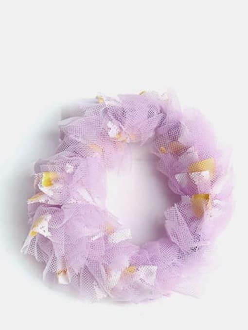 Purple large intestine circle Net Yarn Small Daisies Minimalist Flower Hair Barrette