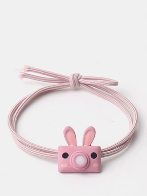 Pink rabbit bubble machine Cute cartoon animal hair rope