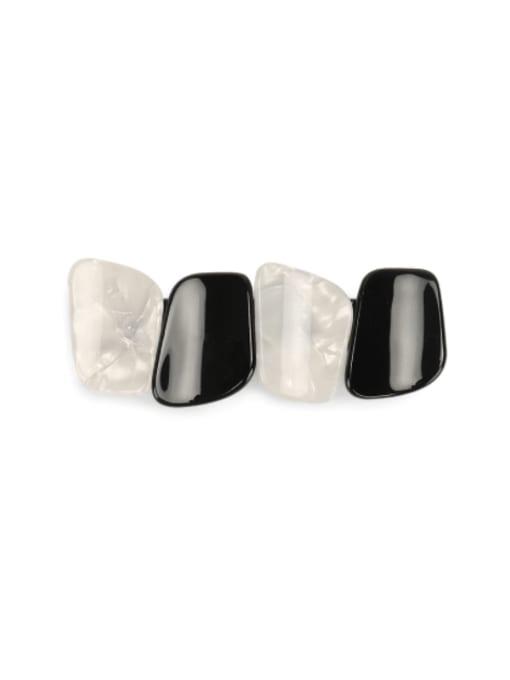 white Cellulose Acetate Minimalist Geometric Alloy Multi Color Hair Barrette