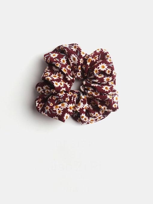 red Fabric Minimalist Flower Hair Barrette