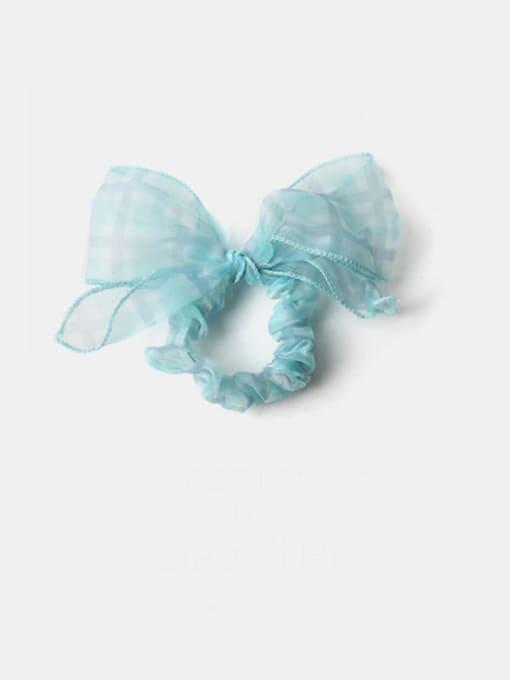 Green Grid Yarn Minimalist Bowknot Hair Barrette