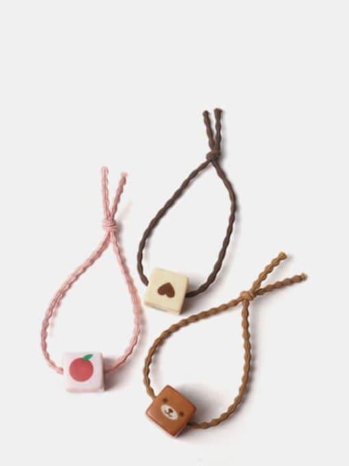 JoChic Acrylic Cute Square Multi Color Hair Rope 1