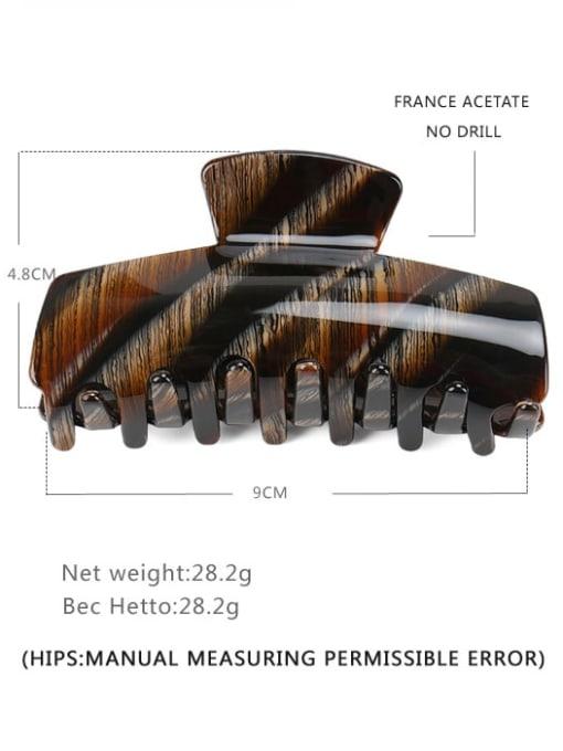 Bar dark brown Cellulose Acetate Minimalist Geometric Jaw Hair Claw
