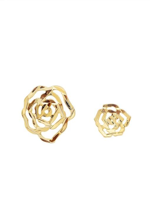 HYACINTH Alloy Gold Geometric Minimalist Single Earring 4