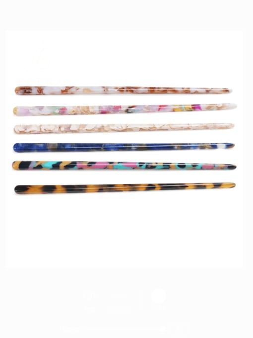 BUENA Cellulose Acetate Minimalist Multi Color Hair Stick 0