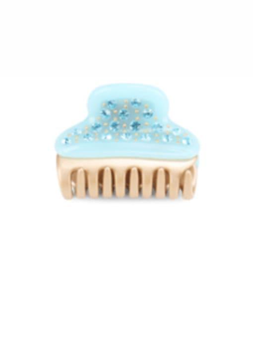 BUENA Cellulose Acetate Minimalist Alloy Rhinestone Jaw Hair Claw 2