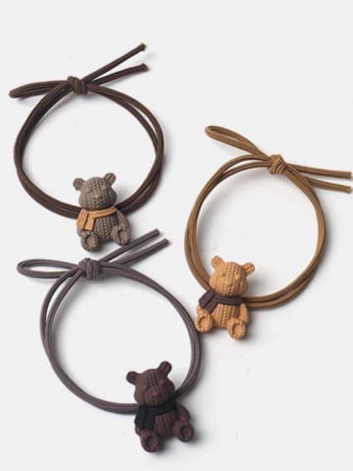 JoChic Alloy Cute Bear  Hair Rope
