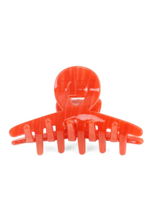 Chinese Red Cellulose Acetate Minimalist Irregular Multi Color Jaw Hair Claw