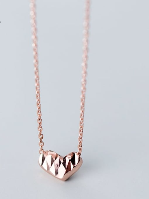 Rosh 925 Sterling Silver Gold Heart Minimalist Necklace 1