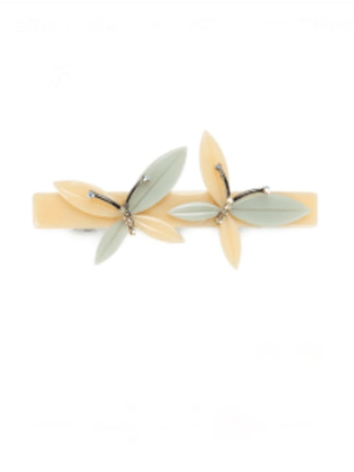 BUENA Cellulose Acetate Minimalist Butterfly Alloy Hair Barrette 0