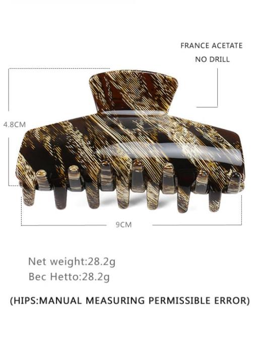 Bar brownish yellow Cellulose Acetate Minimalist Geometric Jaw Hair Claw