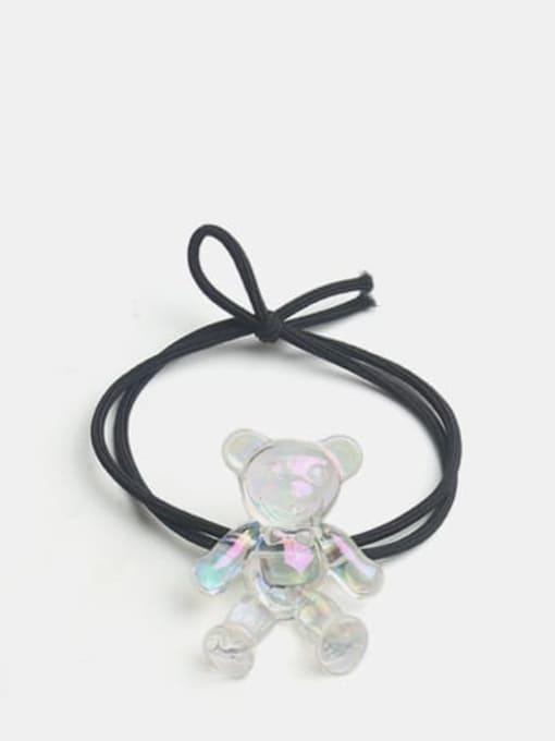 Colorful white bear black rope Cute Colorful White Bear Hair Rope