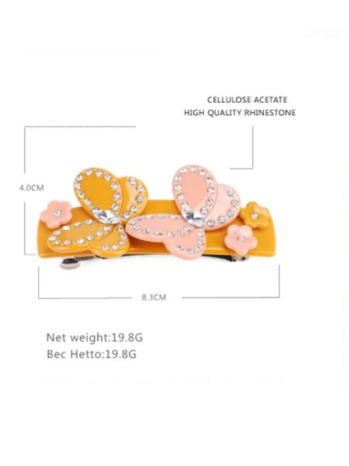 BUENA Cellulose Acetate Minimalist Geometric Rhinestone Hair Barrette 1