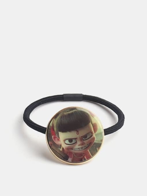 Grinning Nezha Alloy Cute Round  Resin Multi Color Hair Rope