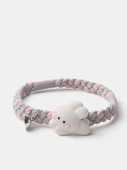 JoChic Cute Rabbit Resin Multi Color Hair Rope 2