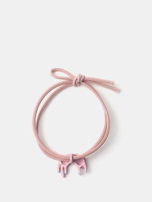 JoChic Alloy Enamel Cute Pink Curved Kitten Hair Rope 2