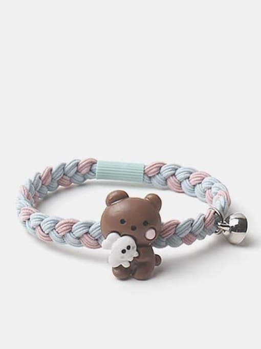 JoChic Cute Rabbit Resin Multi Color Hair Rope