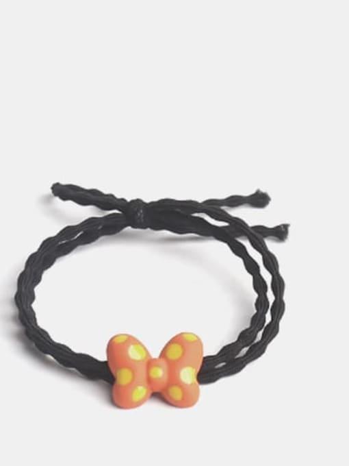 Orange Alloy Enamel Cute Butterfly Multi Color Hair Barrette