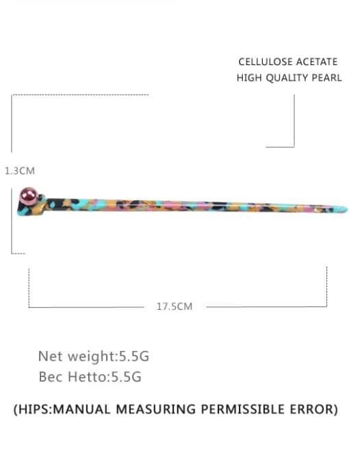 Broken flower color Cellulose Acetate Minimalist Irregular Multi Color Hair Stick