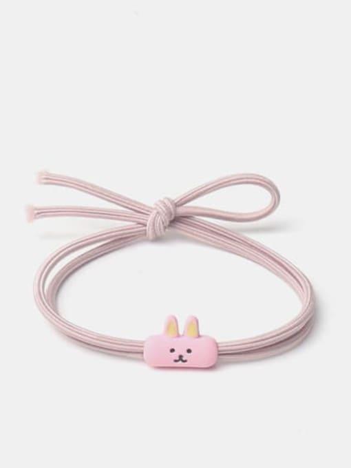 rabbit Alloy  Enamel Cute Icon Multi Color Hair Rope