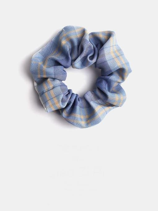 blue Minimalist Fabric  Hair Barrette