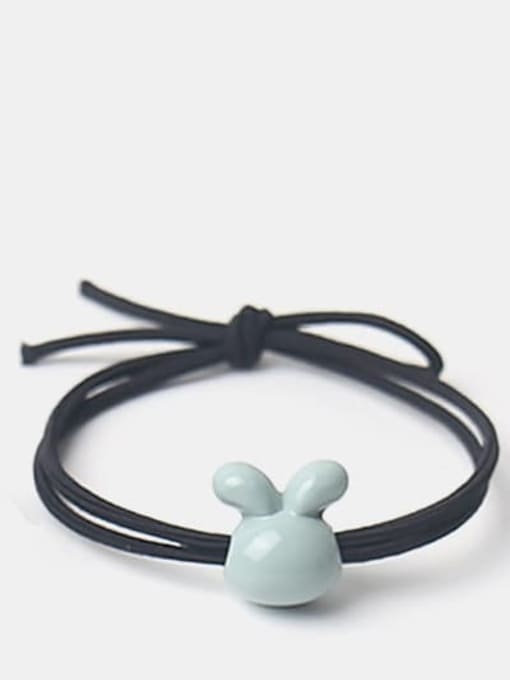 Bean green glazed rabbit Cute Icon Hair Rope
