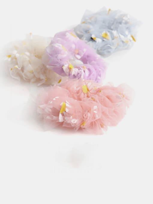 JoChic Net Yarn Small Daisies Minimalist Flower Hair Barrette 0