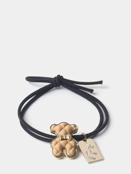 JoChic Alloy Cute Denim Blue Bear Brown Puppet Bear Yellow Puppet Bear Hair Rope