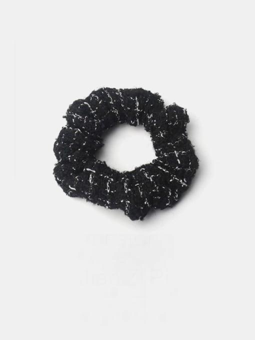 Black small fragrant colon ring Fabric Minimalist Hair Barrette