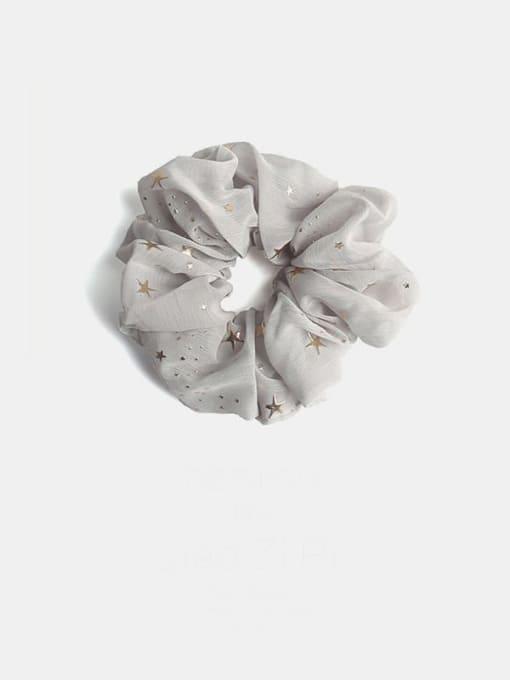 Grey star Fabric Minimalist Star Hair Barrette