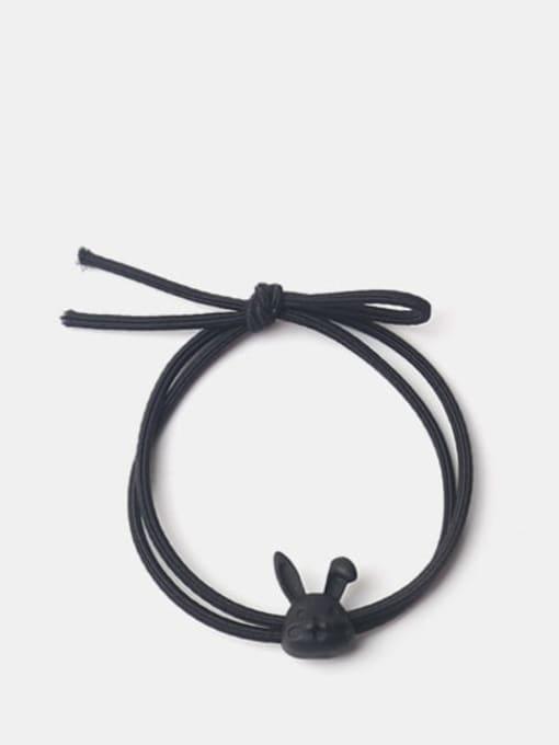 Black rabbit head Alloy +Cute Icon Hair Rope