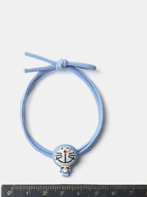 JoChic Alloy Enamel Cute Blue Big Head Doraemon Hair Rope 1