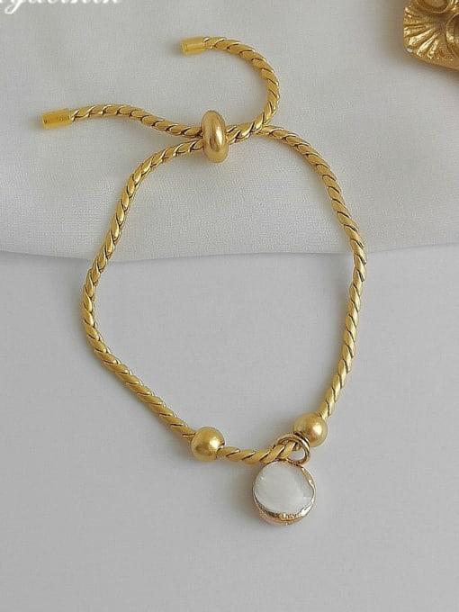 HYACINTH Alloy Shell Gold Geometric Trend Adjustable Bracelet