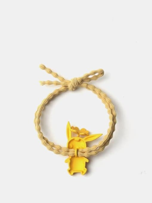 JoChic Alloy Enamel Cute  Yellow Hair Rope 2