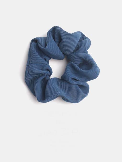 navy blue Minimalist  Fabric Hair Barrette