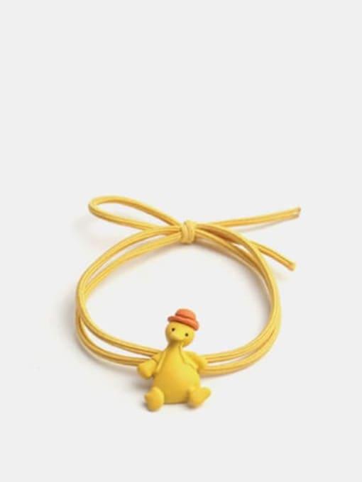 Cap duckling Alloy Enamel Cute Long grass Cartoon Bear Multi Color Hair Rope