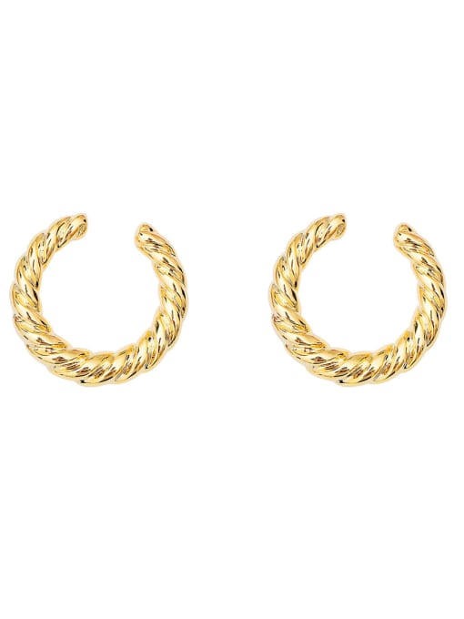 HYACINTH Copper Alloy Gold Geometric Minimalist Hoop Earring 3