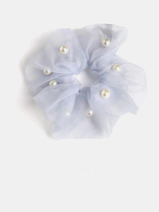 Blue Gray Pearl mesh Yarn Minimalist Imitation Pearl Hair Barrette