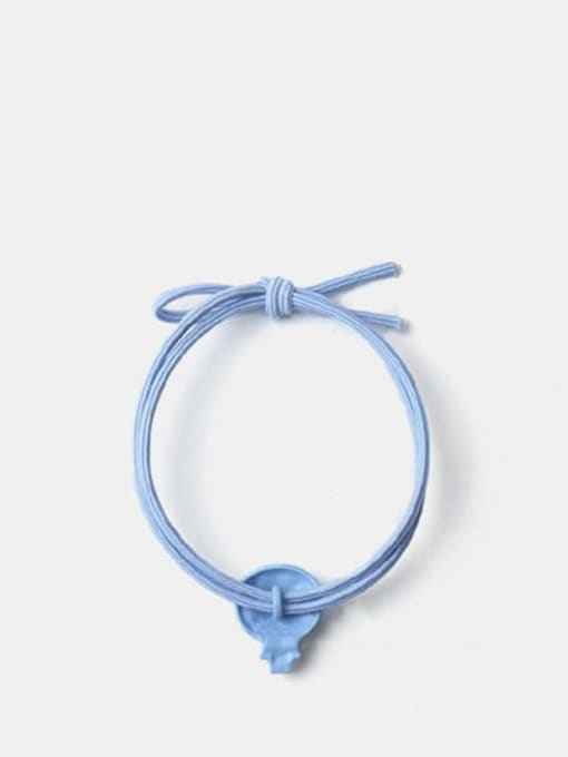 JoChic Alloy Enamel Cute Blue Big Head Doraemon Hair Rope 2