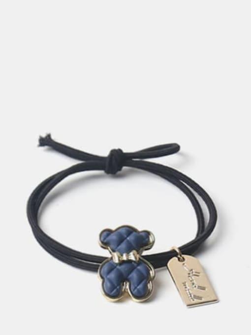 Denim Blue Bear Alloy Cute Denim Blue Bear Brown Puppet Bear Yellow Puppet Bear Hair Rope